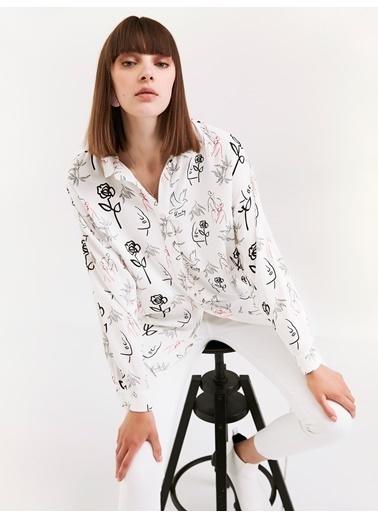 Twist Gömlek Beyaz